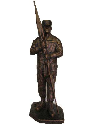 Terrance Patterson Gallery Colorado Springs Military Soldier Western Statues Sculptures