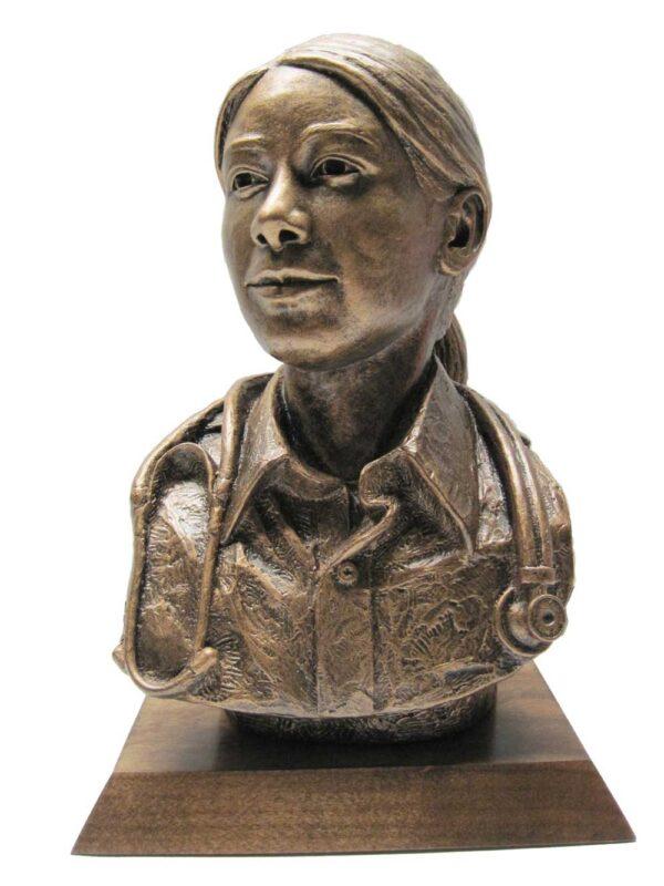 terrance-patterson-military-figures-sculptures-P338-female-medical-personnel-bust-statue