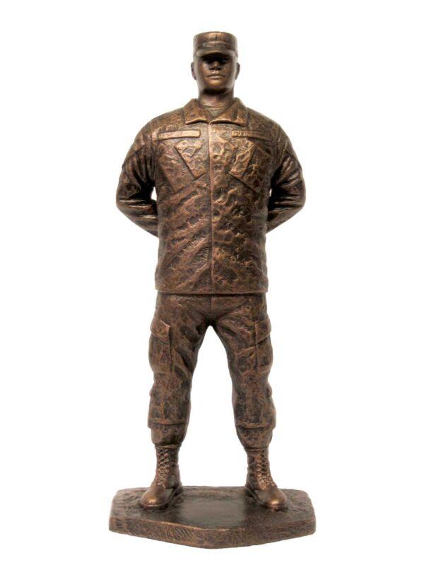 terrance-patterson-military-figures-sculptures-P345-jr-small-male-parade-rest-cap-statue