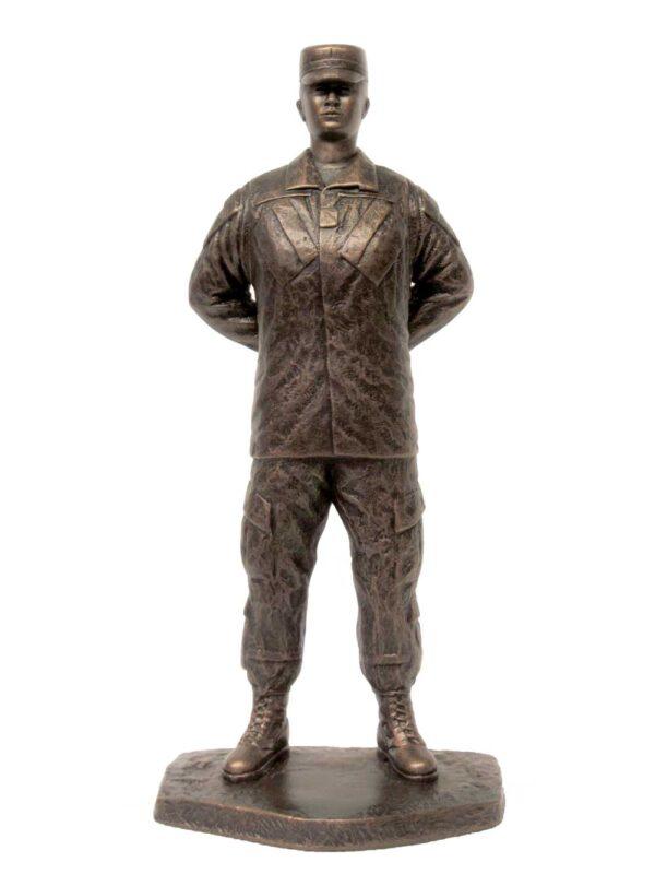 terrance-patterson-military-figures-sculptures-P345.5-jr-small-female-parade-rest-cap-statue