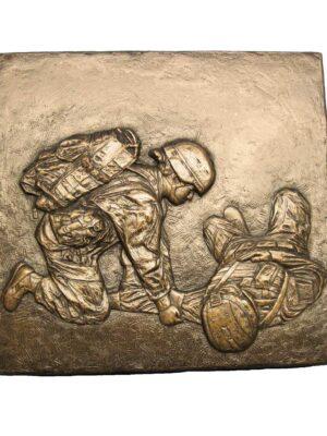 terrance-patterson-military-figures-sculptures-female-medic-plaque