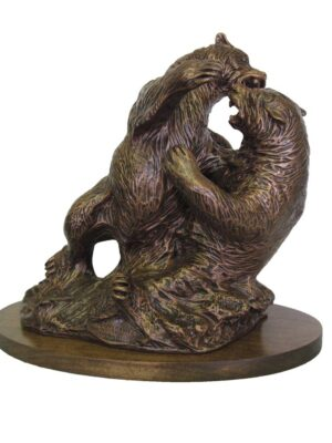 terrance-patterson-nature-figures-sculptures-P308-difference-of-opinion-fighting-bears-wildlife-statue