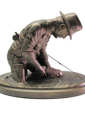 terrance-patterson-western-figures-sculptures-P320-fly-fisherman-statue