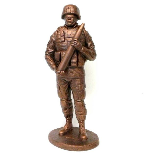 terrance-patterson-military-figures-sculptures-P357-small-cannoneer-statue